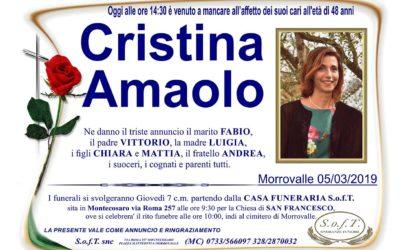 Cristina Amaolo